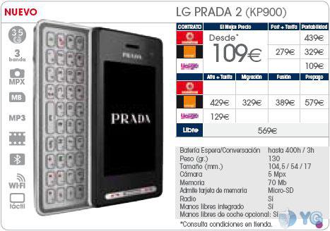 LG Prada 2 Phone House Yoigo