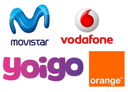 movistar, Vodafone, Yoigo y Orange