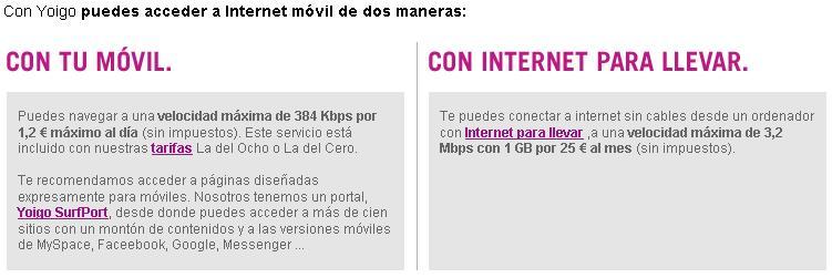 Yoigo Internet móvil