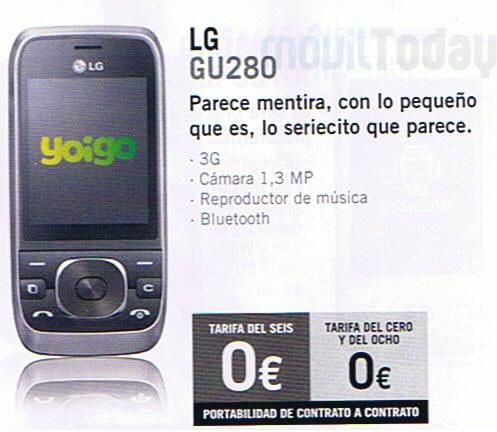 LG GU280 Yoigo