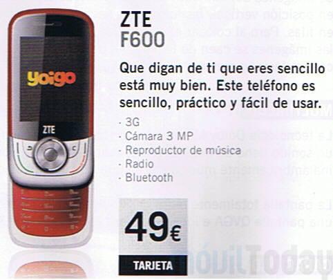 ZTE F600 Yoigo