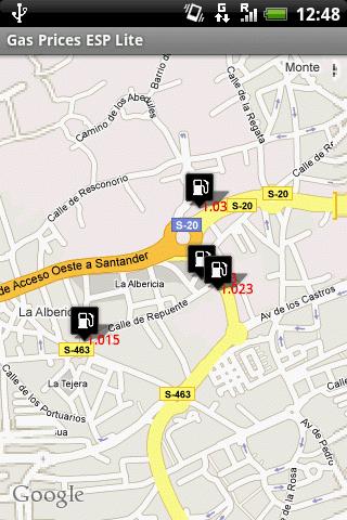 Mapa de gasolineras