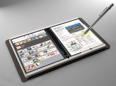 Tablet de doble pantalla de microsoft