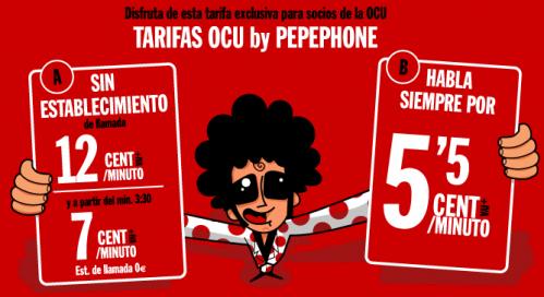 Tarifas OCU de Pepephone