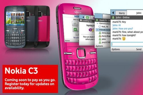 Nokia C3 Vodafone