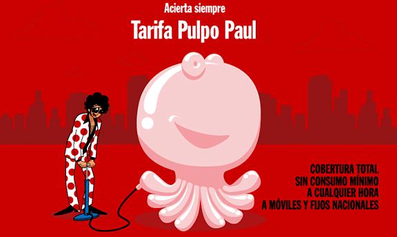 Tarifa Pulpo Paul Pepephone