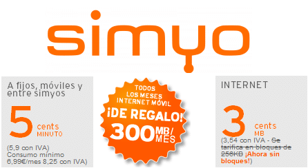 simyo Internet 300 MB