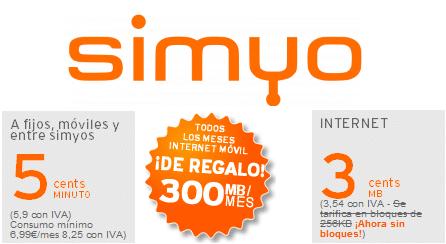 simyo Internet 300 MB