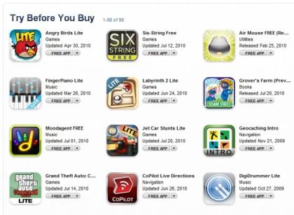 app store prueba antes de comprar