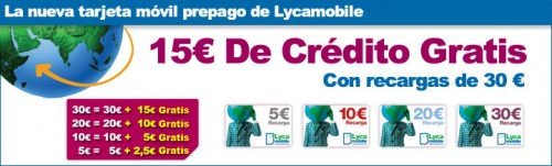 FreeCredit Lycamobile