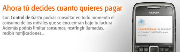 Control de gasto Euskaltel