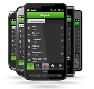 Spotify para Windows Mobile