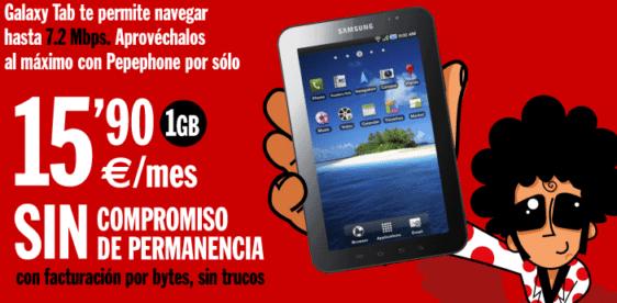 Tarifa Pepephone Samsung Galaxy Tab