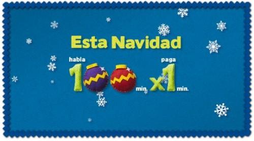 Promoción Navidad 100x1 Movistar