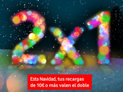 2x1 recargas Navidad Vodafone
