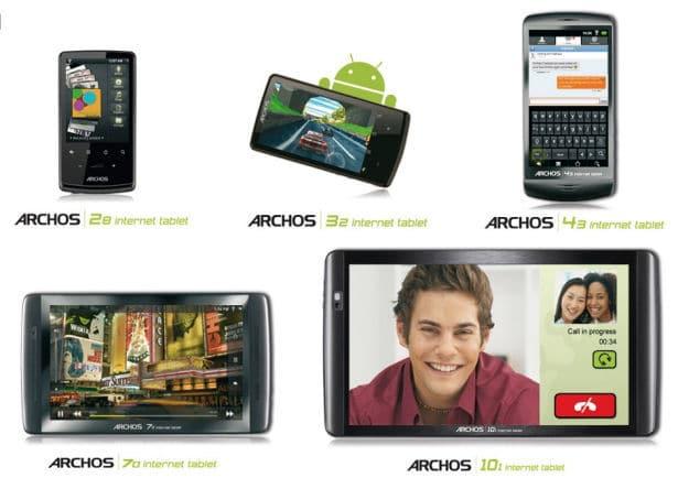 Archos Tablets actualización