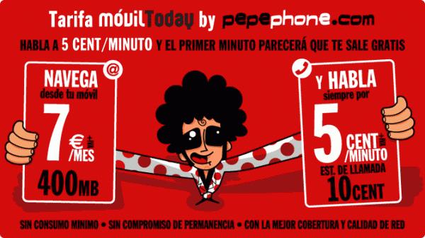 Tarifa móvilToday by pepephone