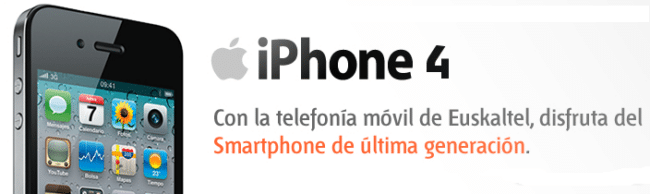 iPhone 4 Euskaltel