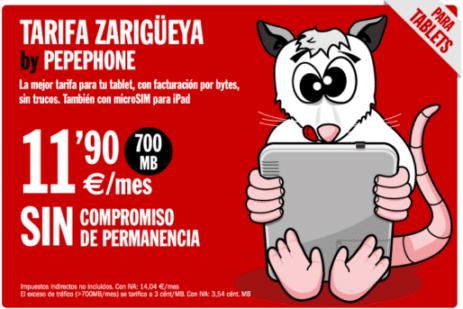 Tarifa Zarigüeya Pepephone
