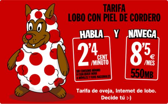 Tarifa Lobo con Piel de Cordero Pepephone