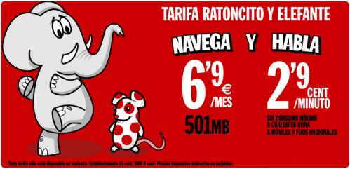 Tarifa Ratoncito y Elefante