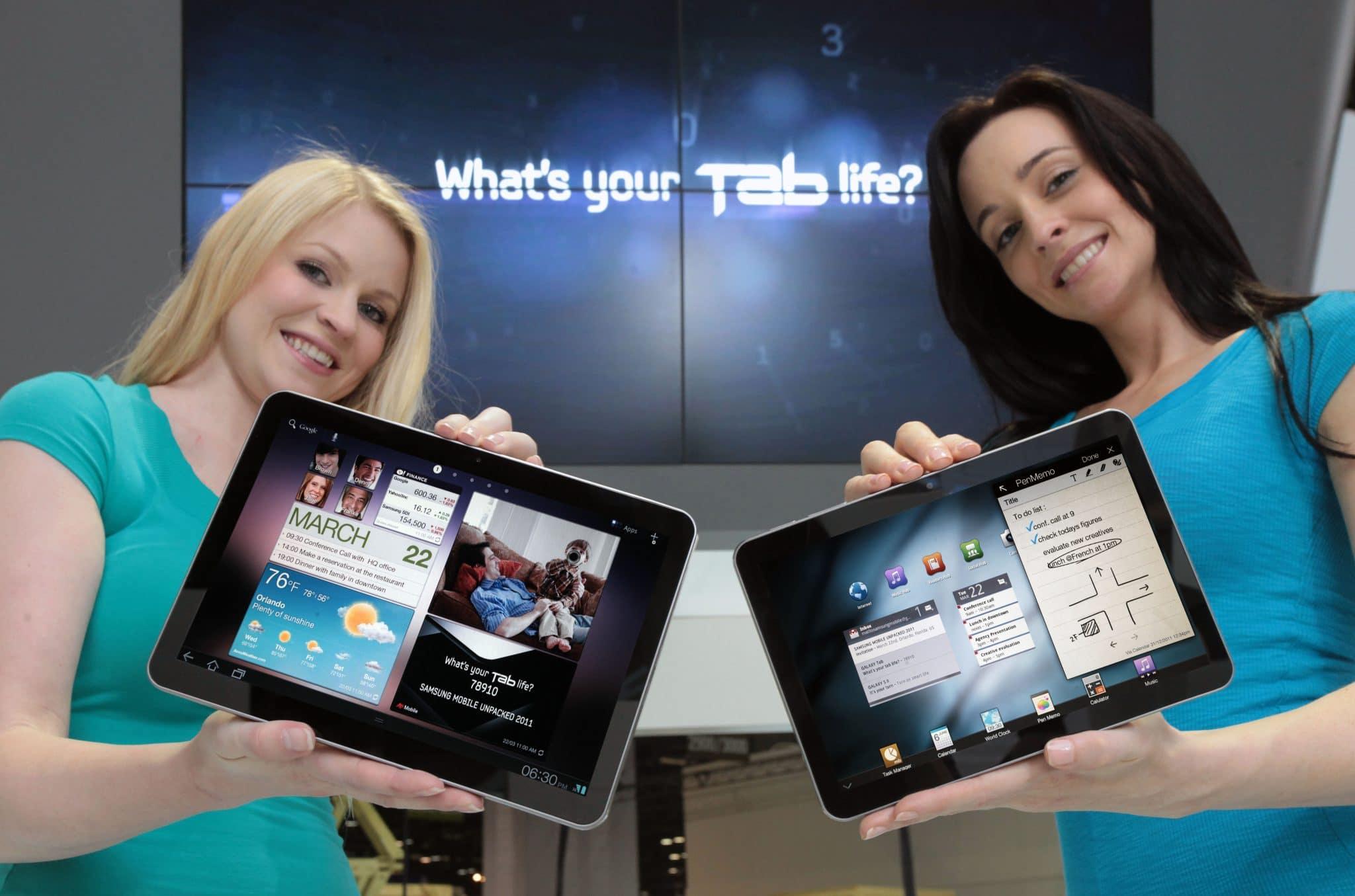 Galaxy Tab 10.1 y 8.9