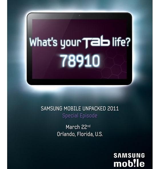 Samsung Galaxy Tab 8.9 presentación