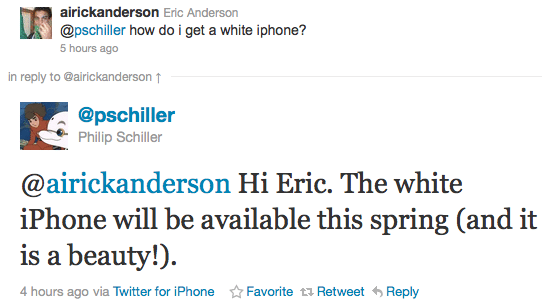 white iPhone phil schiller