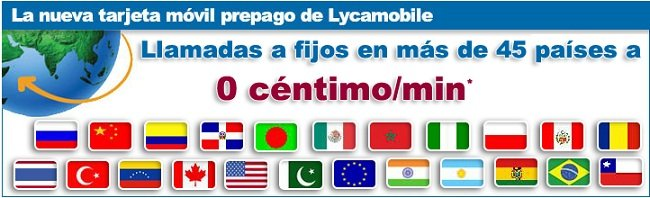 lycamobile 45 paises