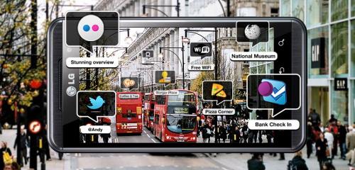 LG Optimus 3D Wikitude