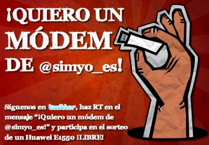modem twitter simyo