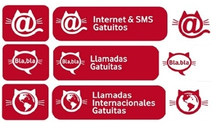 Tarifas Gatuitas Vodafone