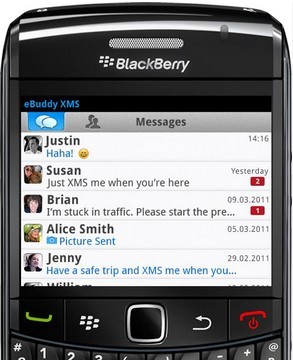 eBuddy XMS Blackberry