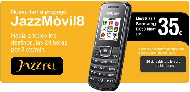 JazzMóvil8, tarifa prepago de Jazztel