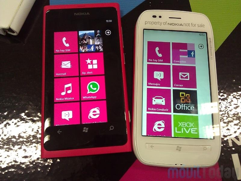 Nokia Lumia 1625 Nokia Lumia 800 y 710