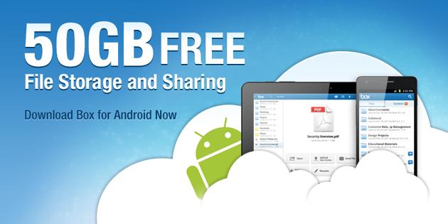 50GB gratis Box para Android