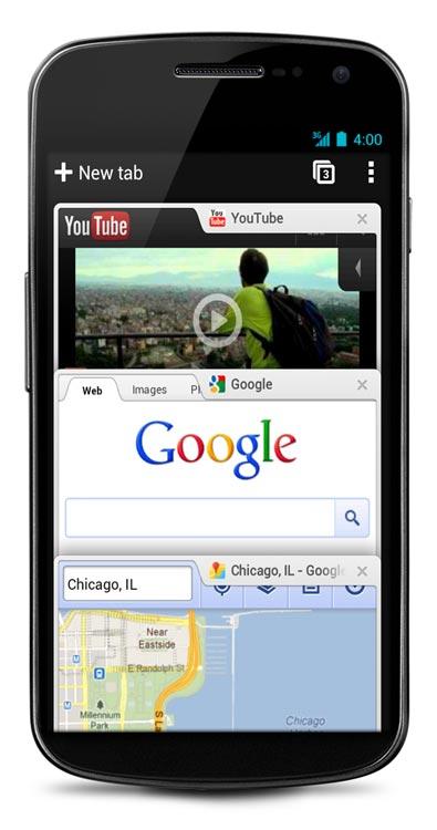 Chrome Beta Android 4.0 ICS