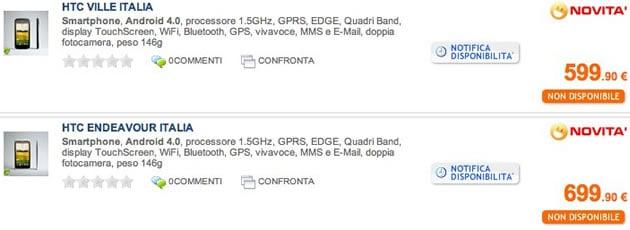 Precios del HTC One S y HTC One X