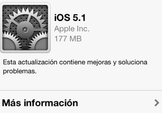 actualizacion ios 5.1