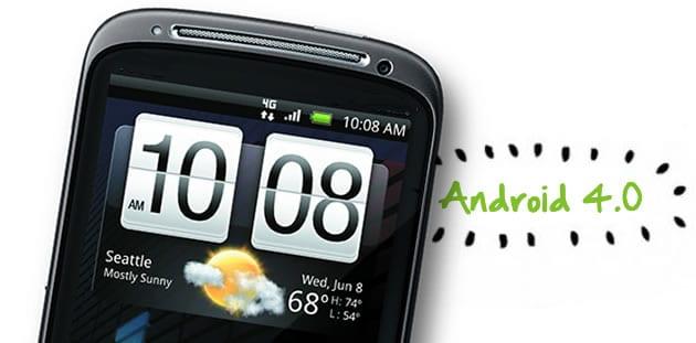 htc sensation Android 4.0