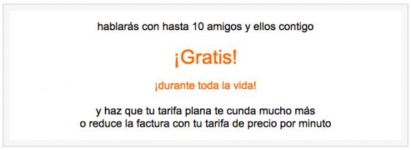 orange amigos gratis