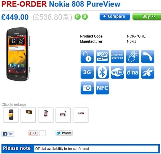 Nokia PureView 808 UK