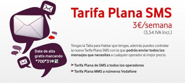 Tarifa Plana SMS Vodafone