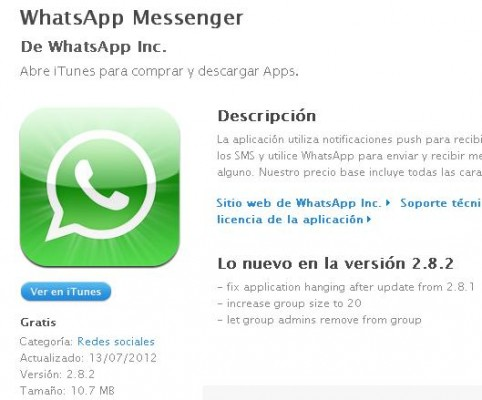 Whatsapp gratis iphone