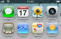 Pantalla Inicio iPhone