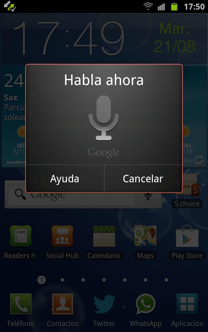 Búsqueda por voz Google Android