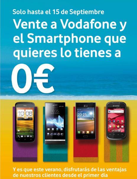 Vodafone móviles a 0 euros