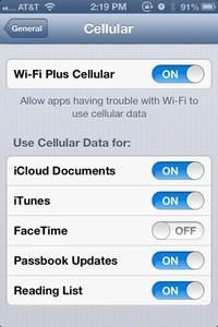 Wi-Fi Plus Cellular beta 4 iOS 6