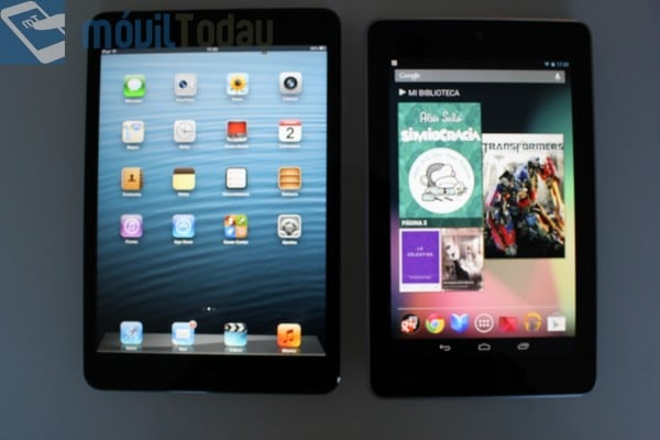 Comparativa iPad mini y Nexus 7