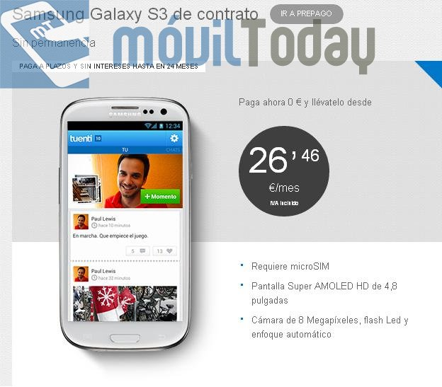 Samsung Galaxy S III Tuenti móvil